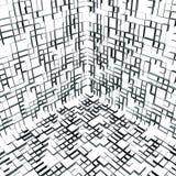 un cubo astratto della 01 casella 3d all'interno Fotografia Stock
