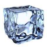 Un cubo de hielo claro azul Fotos de archivo