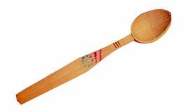 Un cucchiaio di legno rumeno fatto a mano Immagini Stock
