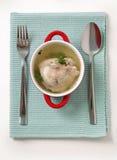 Caldo de pollo Foto de archivo libre de regalías
