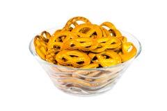 Un cuenco de pretzeles Fotografía de archivo libre de regalías