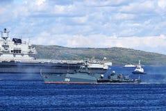 Un cuirassé anti-sous-marin de petite taille-gamme russe images stock
