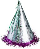 Un cumpleaños o los Años Nuevos va de fiesta el sombrero en a Foto de archivo