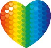 Un cuore dell'arcobaleno Fotografie Stock