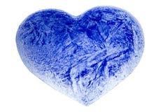 Un cuore dell'azzurro di ghiaccio Fotografie Stock Libere da Diritti