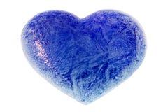 Un cuore dell'azzurro di ghiaccio Immagine Stock Libera da Diritti
