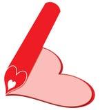 Un cuore della matita una Immagini Stock