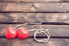 Un cuore di due colori rossi Immagine Stock Libera da Diritti