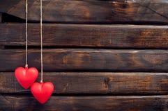 Un cuore di due colori rossi Immagini Stock