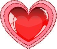 Un cuore rosso brillante Immagine Stock
