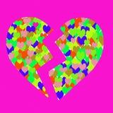 Un cuore rotto Fotografia Stock