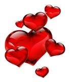 Un cuore sette di vetro Fotografie Stock Libere da Diritti