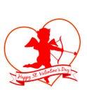 Un cupidon de Valentine ! ENV 8 Image libre de droits