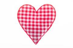Un cuscino sotto forma di un cuore Simbolo di amore isolato su un bianco fotografie stock libere da diritti