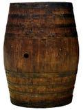 Un découpage en bois de baril d'isolement Image libre de droits