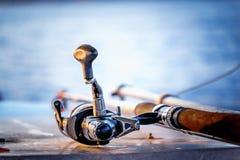 Un détail de la canne à pêche 2 photos stock