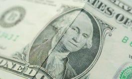 Un détail du dollar Images libres de droits