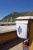 Un détail du monastère de Drepung Images stock