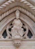 Un détail ornemental du St Marco dans Korcula Image libre de droits