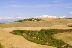 Un día caliente de septiembre en Toscana Italia Foto de archivo