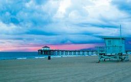Un día cambiante de la playa Imagen de archivo libre de regalías