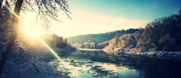 Un día de invierno claro Foto de archivo