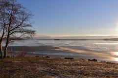 Un día de invierno hermoso fotos de archivo