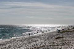 Un día de la playa imagen de archivo