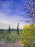 Un día en el desierto de Arizona ilustración del vector