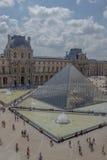 Un día en el museo del Louvre Fotos de archivo libres de regalías
