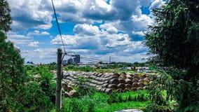Un día en Serbia Nubes fotos de archivo