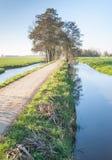 Un día sin viento del otoño en un río estrecho Fotografía de archivo
