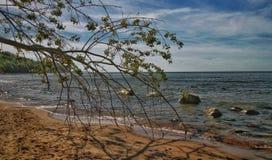 Un día soleado en el mar Báltico fotos de archivo