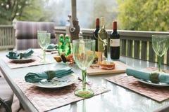 Un dîner d'après-midi d'automne Photo libre de droits