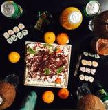 Un dîner doux Image libre de droits