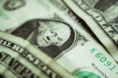 Un dólar Bill Close Up High Quality Imágenes de archivo libres de regalías