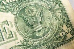 Un dólar Bill Detail Closeup White Background Currenc Imagenes de archivo