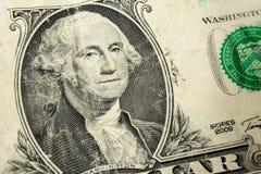 Un dólar Bill Detail Closeup White Background Currenc Foto de archivo