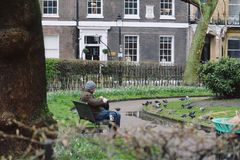 Un d?a en Londres fotografía de archivo