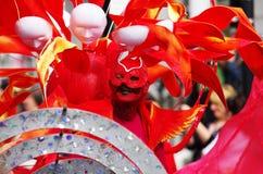 Un danseur de rue au carnaval de Londres Notting Hill Image stock