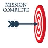 Un dard est au centre d'une cible Visez le concept mission complète, concept d'affaires Photos libres de droits