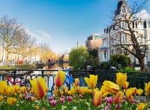 Un de canaux à Amsterdam image stock