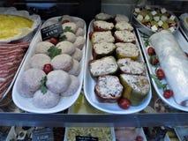 Un de la meilleure boucherie à Rome photographie stock libre de droits