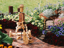 Un de madera sirve día de fiesta Foto de archivo libre de regalías