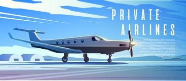 Un debout surface Voyage en l'avion Matin illustration stock