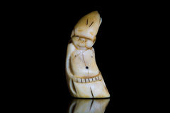 Un dente d'Alasca Billiken del tricheco Fotografia Stock