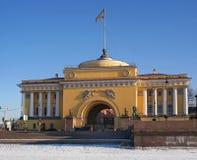 Un des bâtiments de l'Amirauté principal à St Petersburg Image stock