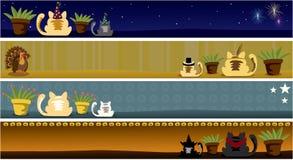 Un an des drapeaux de chat - partie deux Image libre de droits