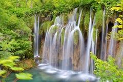 Un des endroits les plus beaux au monde Plitvice - Croatie Photo libre de droits