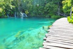 Un des endroits les plus beaux au monde Plitvice - Croatie Photos libres de droits